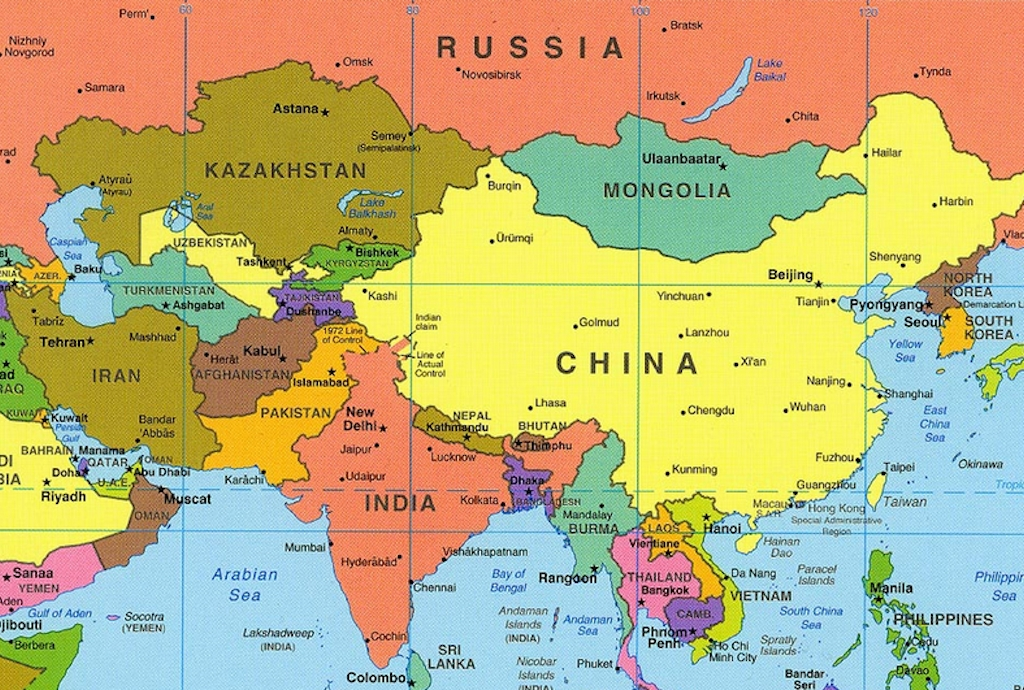 Picture Of Map Of Asia.Asia Map Tpe
