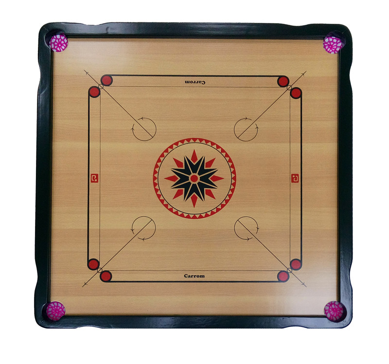 carrom board and coins